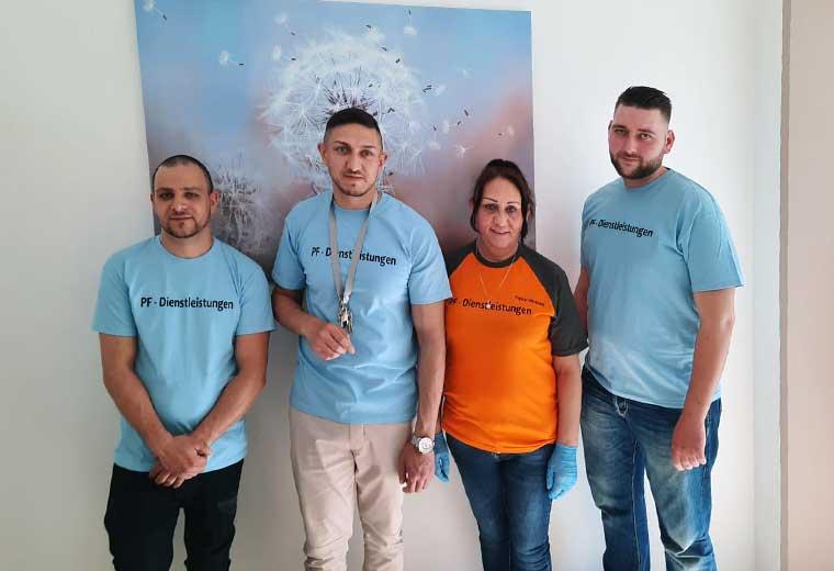 Das Team von PF Dienstleistungen